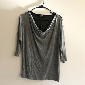 Forever 21 Grey 3/4 Sleeve Blouse